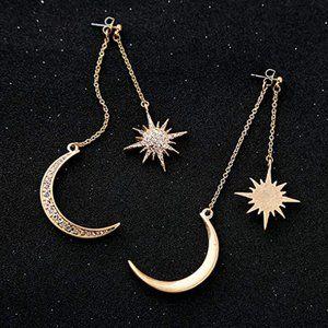Moon & Stars Long Dangle Earrings